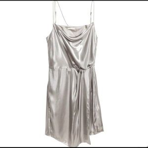 H&M Strappy Shimmery Metallic Cocktail Dress